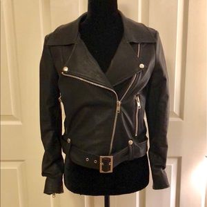 Black Ecru Studios faux leather jacket Size Small